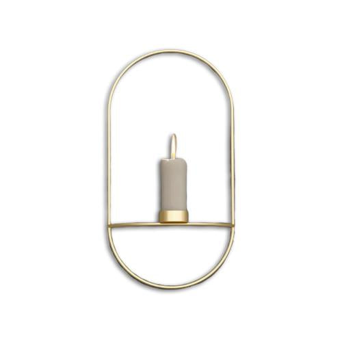 Elongated Stainless Steel Candleholder - Hansel & Gretel Home Decor
