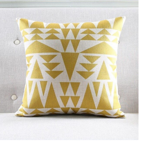 Fashionable Gold and White Decorative Pillow Case - Hansel & Gretel Home Decor