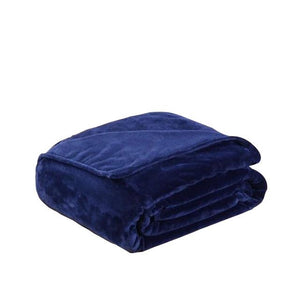 Fleece Plaid Blue Blanket - Hansel & Gretel Home Decor