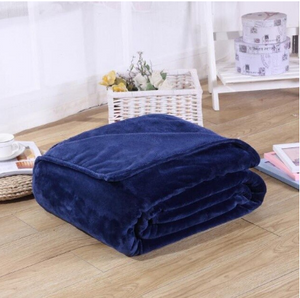 France Velvet Blue Blanket - Hansel & Gretel Home Decor