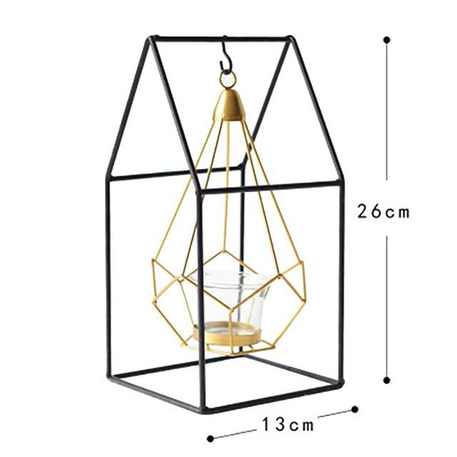 Geometric Iron Candle Holder-Hansel & Gretel Home Decor