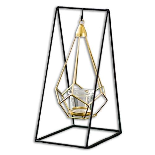 Geometric Iron Candle Holder