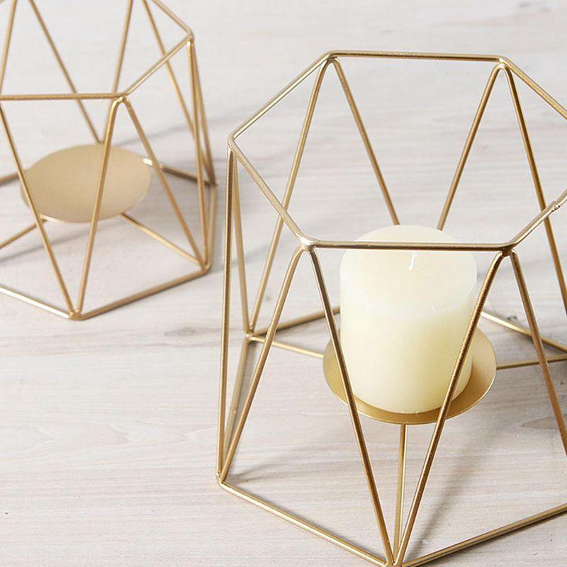 Geometric Iron Candleholder - Hansel & Gretel Home Decor