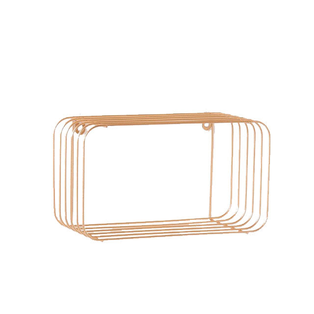Metal Minimalist Pink Shelf