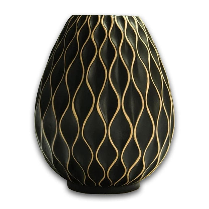 Honeycomb Ceramic and Porcelain Vase