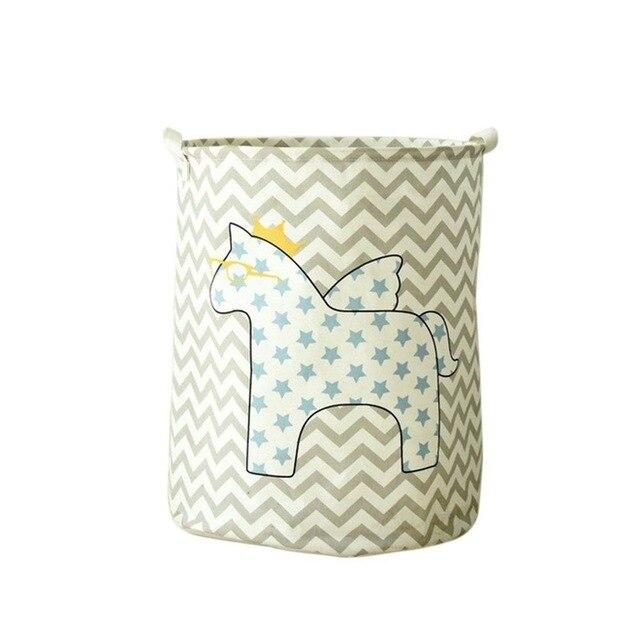 Horse Fabric Laundry Basket