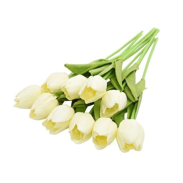 Ivory Artificial Flowers Tulip Bouquet