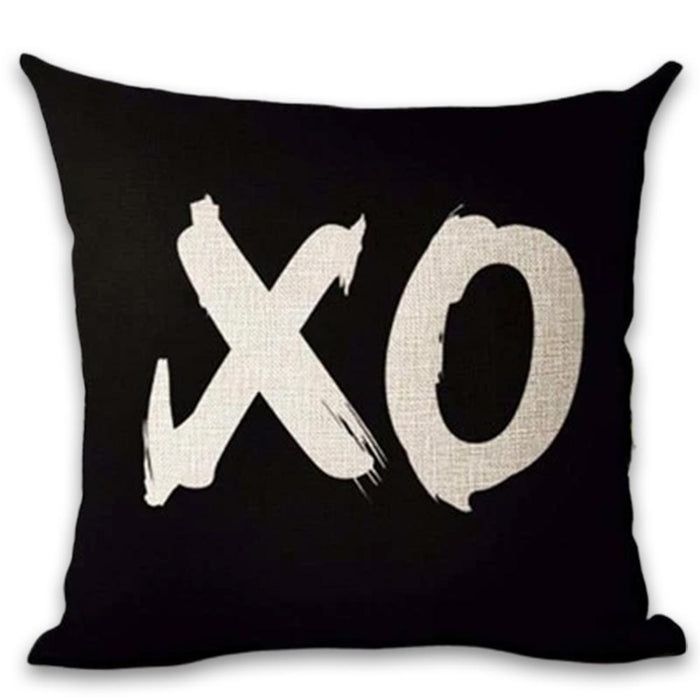 Lovely Black and Brown Decorative Pillow Case