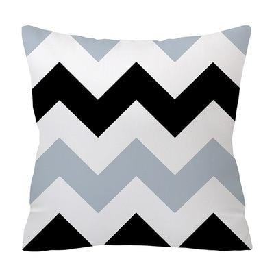 Luxurious Black and Blue Decorative Pillow Case