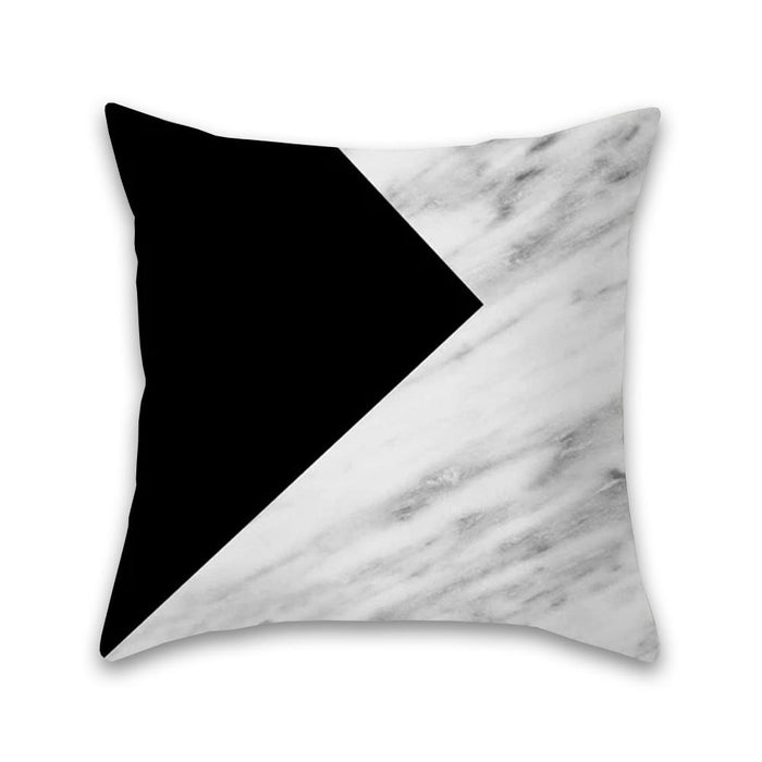 Luxurious Black and White Decorative Pillow Case
