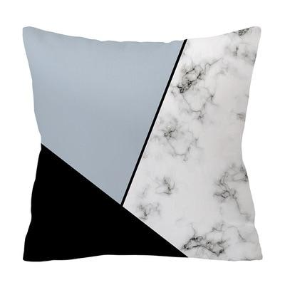Luxurious Shades of Blue and Gray Decorative Pillow Case