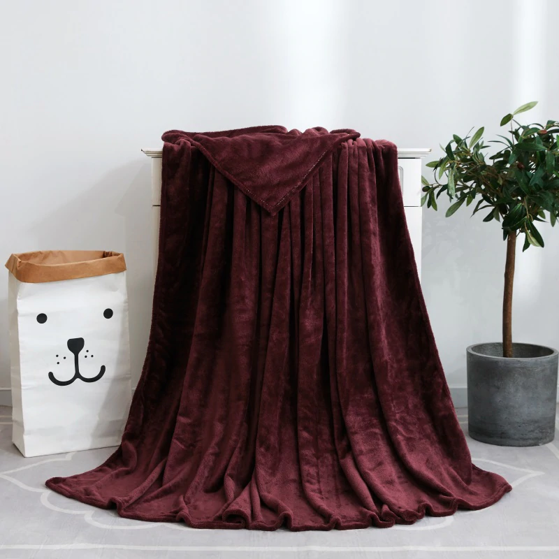 France Velvet Maroon Blanket - Hansel & Gretel Home Decor