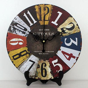 Mediterranean Desk Clock Elizabeth Model - Hansel & Gretel Home Decor