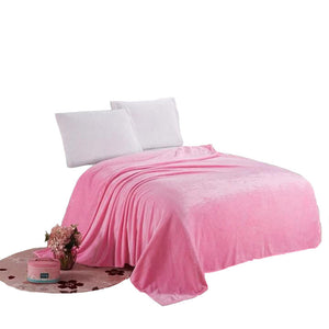 Microfiber Fabric Pink Blanket - Hansel & Gretel Home Decor