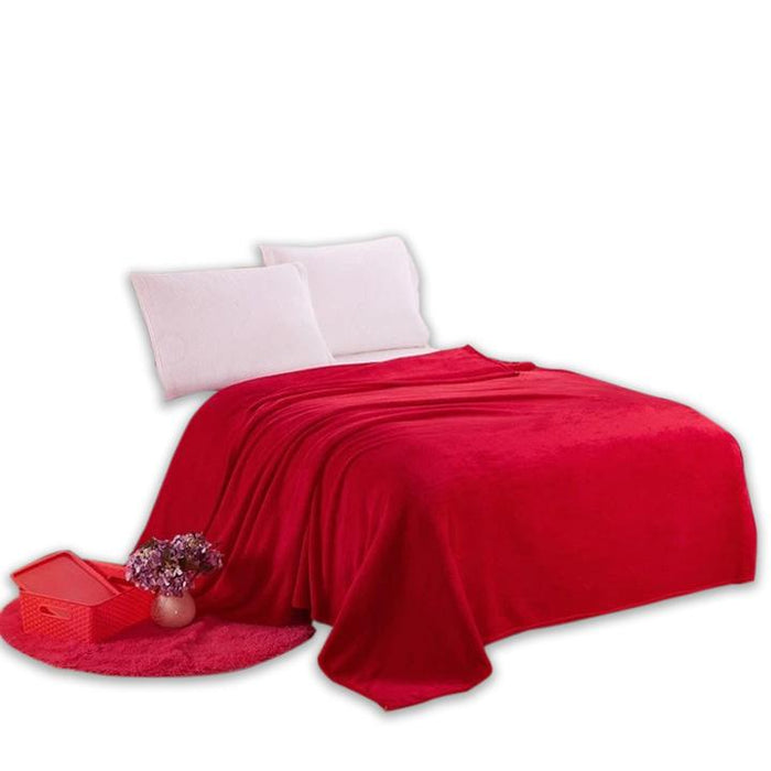 Microfiber Fabric Red Blanket