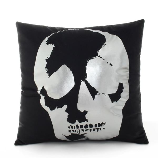 Modern Black and Silver Decorative Pillow Case