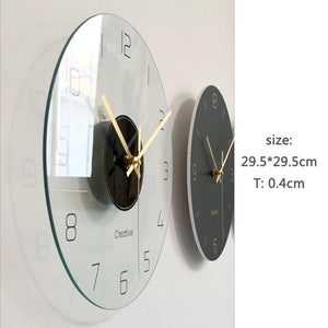 Modern Quartz Wall Clock Sarah Model-Hansel & Gretel Home Decor