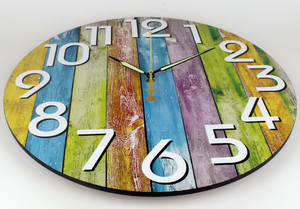 Modern Rainbow Wall Clock Kimberly Model - Hansel & Gretel Home Decor