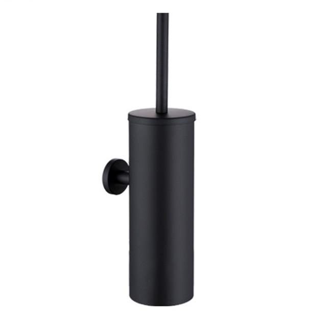 Modern Stainless Steel Black Toilet Brush and Holder - Hansel & Gretel Home Decor