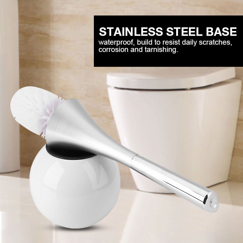 Modern Stainless Steel White Toilet Brush - Hansel & Gretel Home Decor
