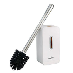 Modern Stainless Steel White Toilet Brush and Holder Set - Hansel & Gretel Home Decor