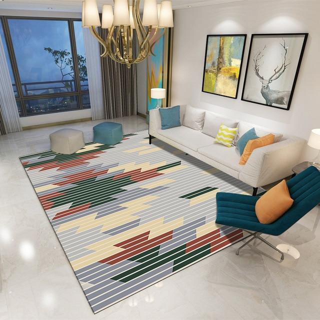 Multicolor Living Room Carpet - Hansel & Gretel Home Decor