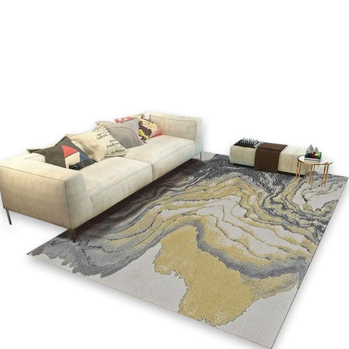 Multicolor Abstract Living Room Carpet