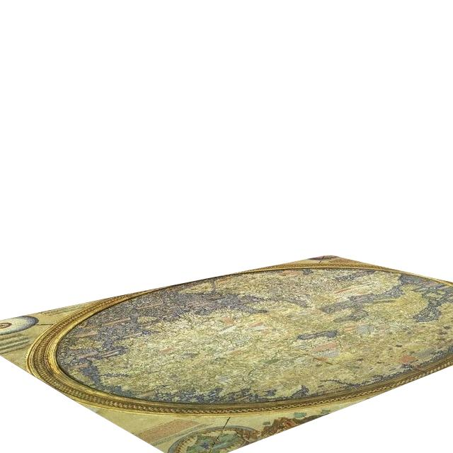Multicolour Ancient Map Living Area Carpet