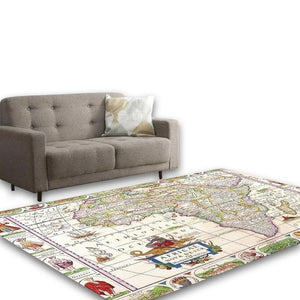 Multicolour Living Area Carpet - Hansel & Gretel Home Decor
