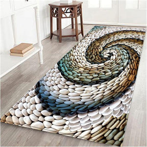 Multicolour Spiral Stone Porch Carpet - Hansel & Gretel Home Decor