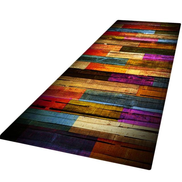 Multicolour Rainbow Wood Porch Carpet