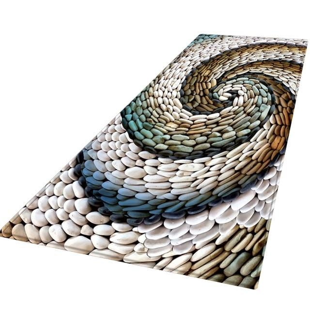 Multicolour Spiral Stone Porch Carpet