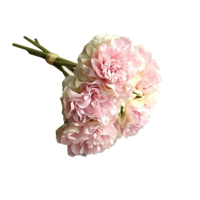 Peach Artificial Flowers Hydrangeas Bouquet