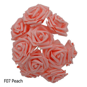 Peach Artificial Flowers Rose Bouquet - Hansel & Gretel Home Decor