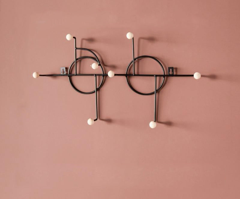 Pink and Black Nordic Wall Storage Hook
