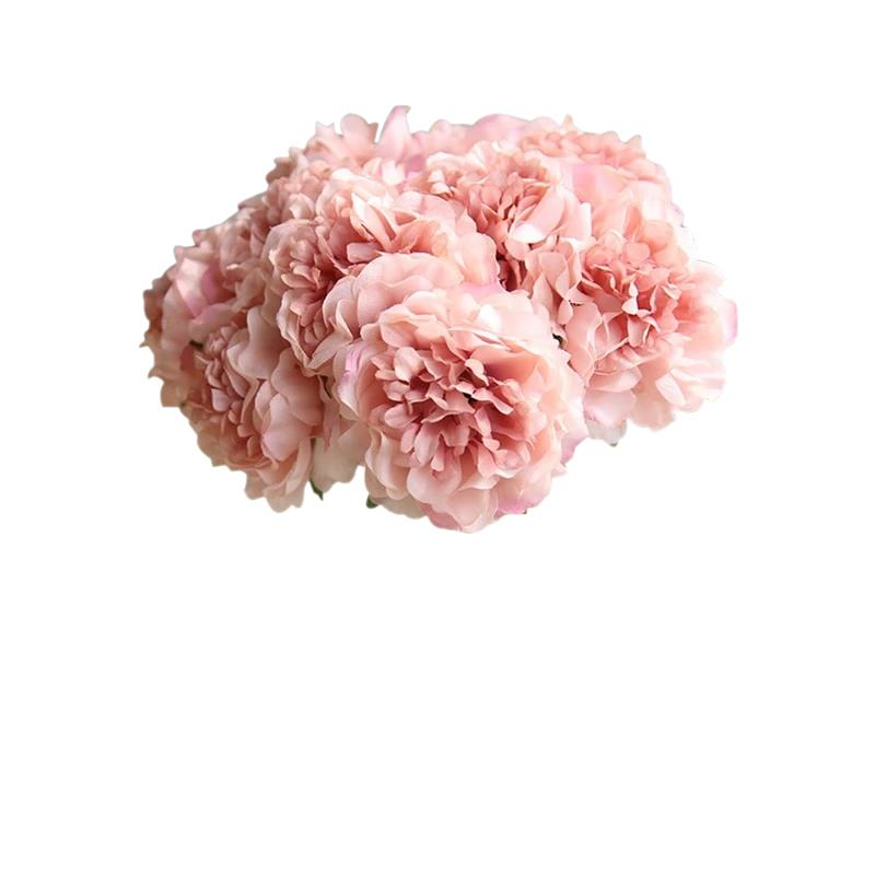 Pink Artificial Flowers Hydrangeas Bouquet - Hansel & Gretel Home Decor