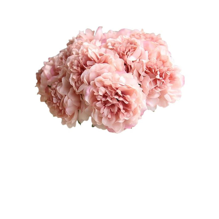 Pink Artificial Flowers Hydrangeas Bouquet
