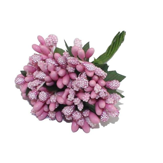 Pink Artificial Flowers Mulberry Bouquet