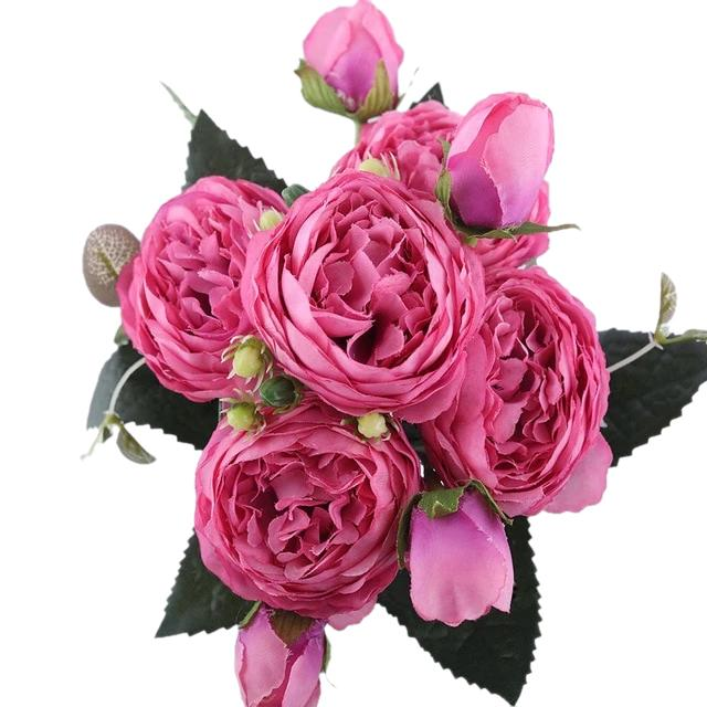 Pink Artificial Flowers Peony Bouquet