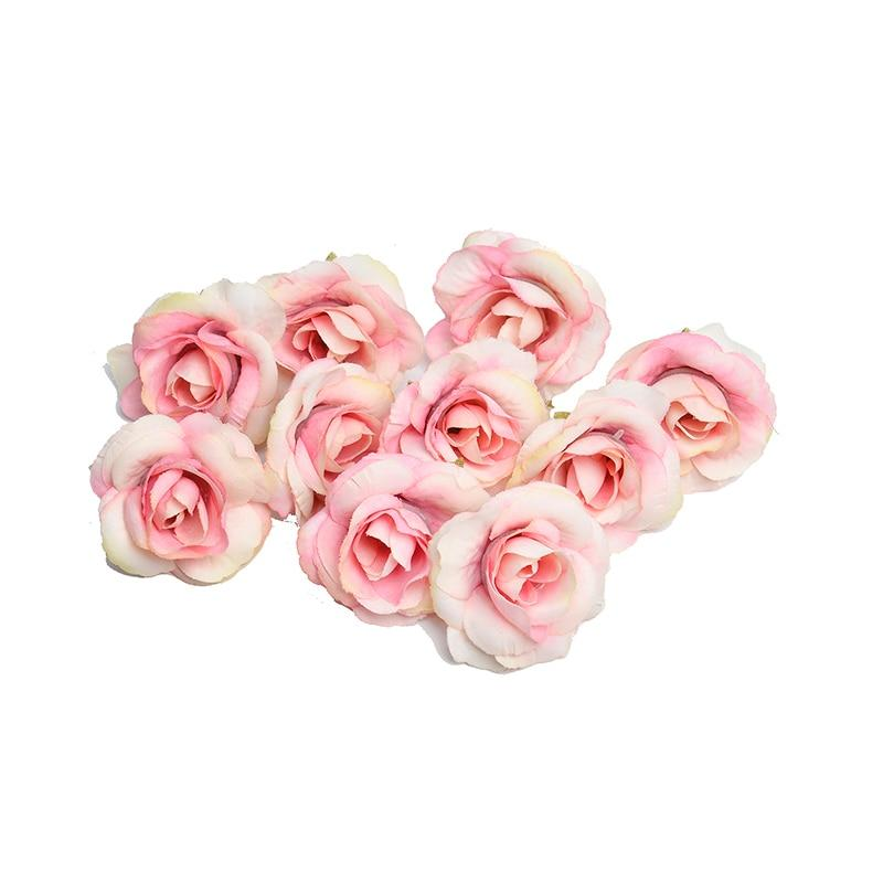 Pink Artificial Flowers Rose Head-Hansel & Gretel Home Decor