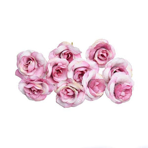 Pink Artificial Flowers Rose Head - Hansel & Gretel Home Decor