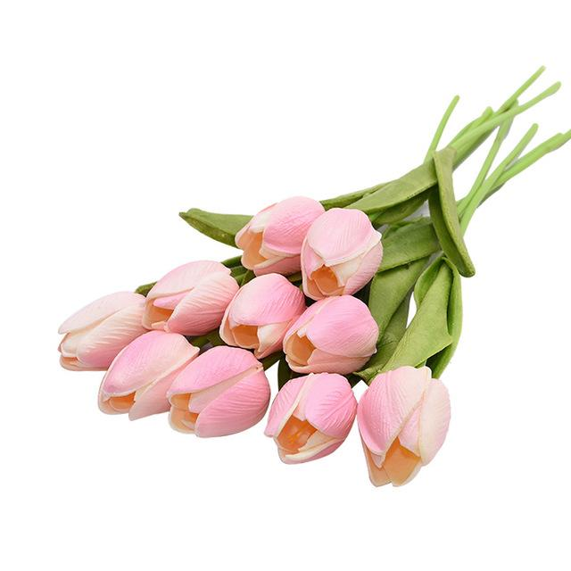 Pink Artificial Flowers Tulip Bouquet