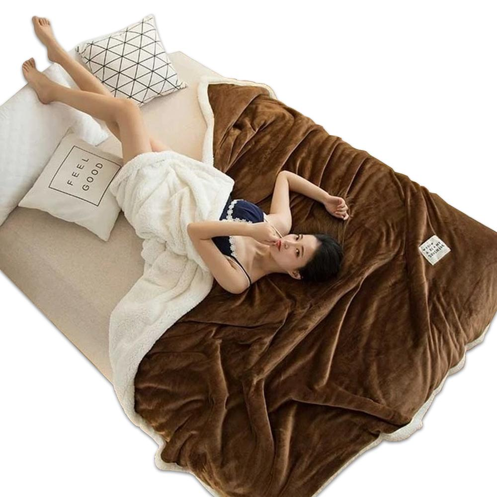 Polyester Cotton Dark Brown Blanket - Hansel & Gretel Home Decor
