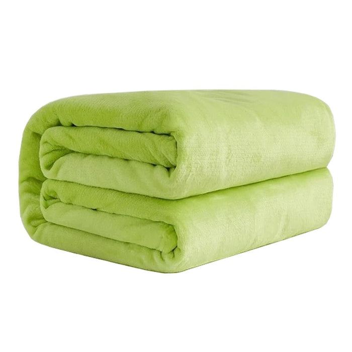 Polyester Lime Green Blanket