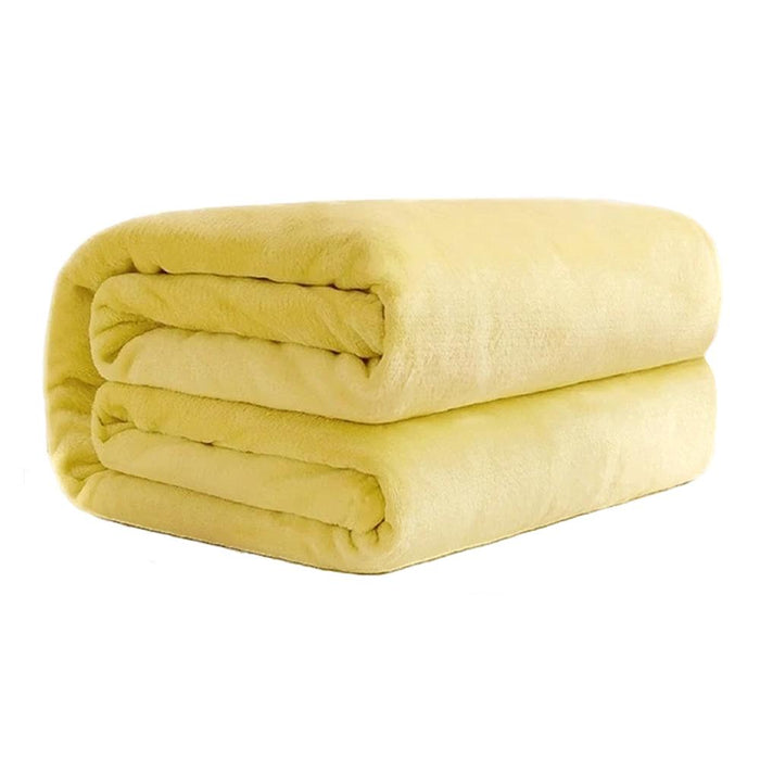 Polyester Yellow Blanket