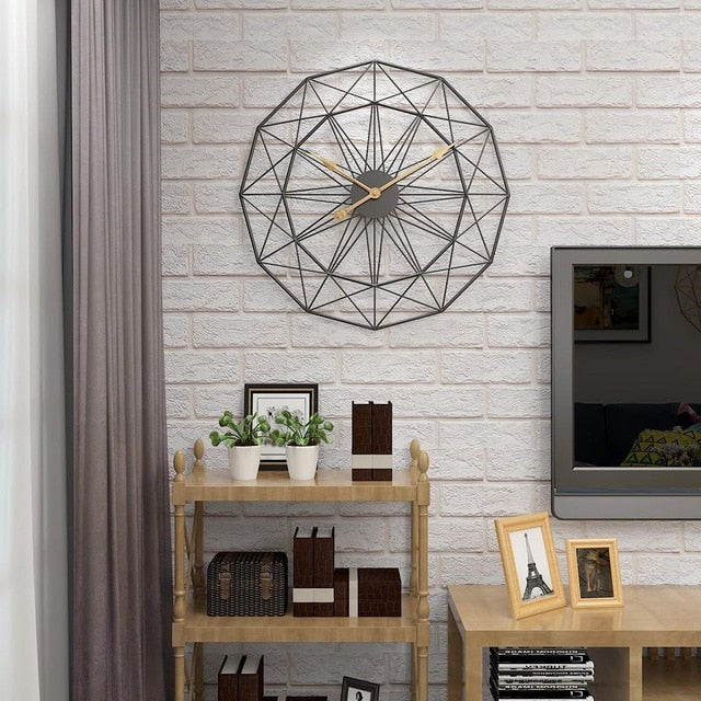 Nordic Round Metal Wall Clock Elisse Model - Hansel & Gretel Home Decor