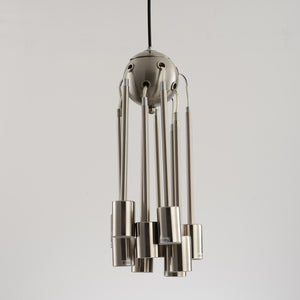 Modern Brass Brushed Nickel Sputnik Chandelier - Hansel & Gretel Home Decor