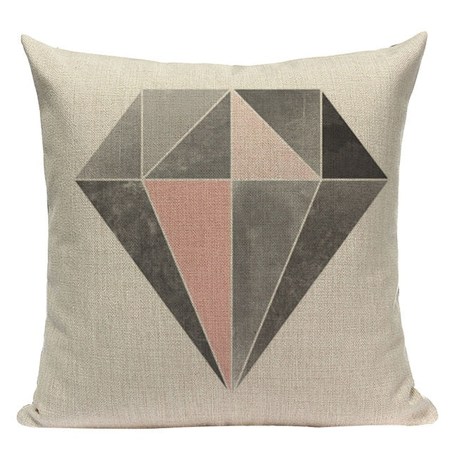 Nordic Shades of Pink and Brown Decorative Pillow Case - Hansel & Gretel Home Decor