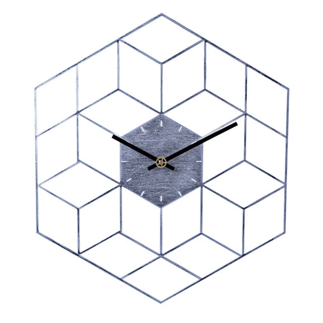 Modern Iron Cube Wall Clock Danielle Model