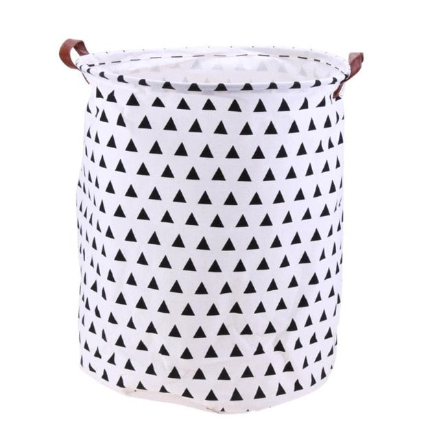 Modern Canvas Folding Laundry Basket - Hansel & Gretel Home Decor